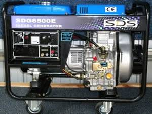 SDG6500E Diesel Auto Voltage Regulator Generator from Goulburn Off Road Carts