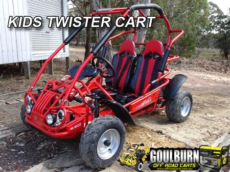 Click for the Kids Twister Cart from Goulburn Off Road Carts