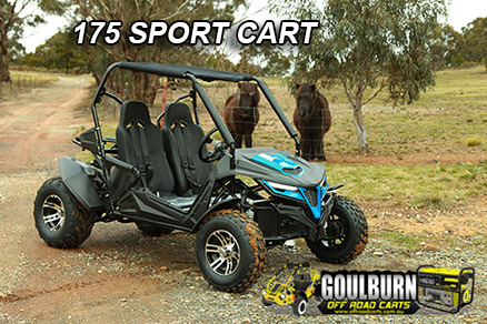 Click for the Sport 175 Cart from Goulburn Off Road Carts