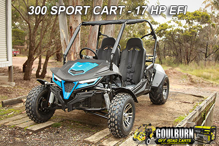 Click here for the Sport 300 Cart from Goulburn Off Road Carts